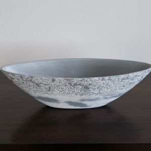 Oval dish bowl vase for home decor